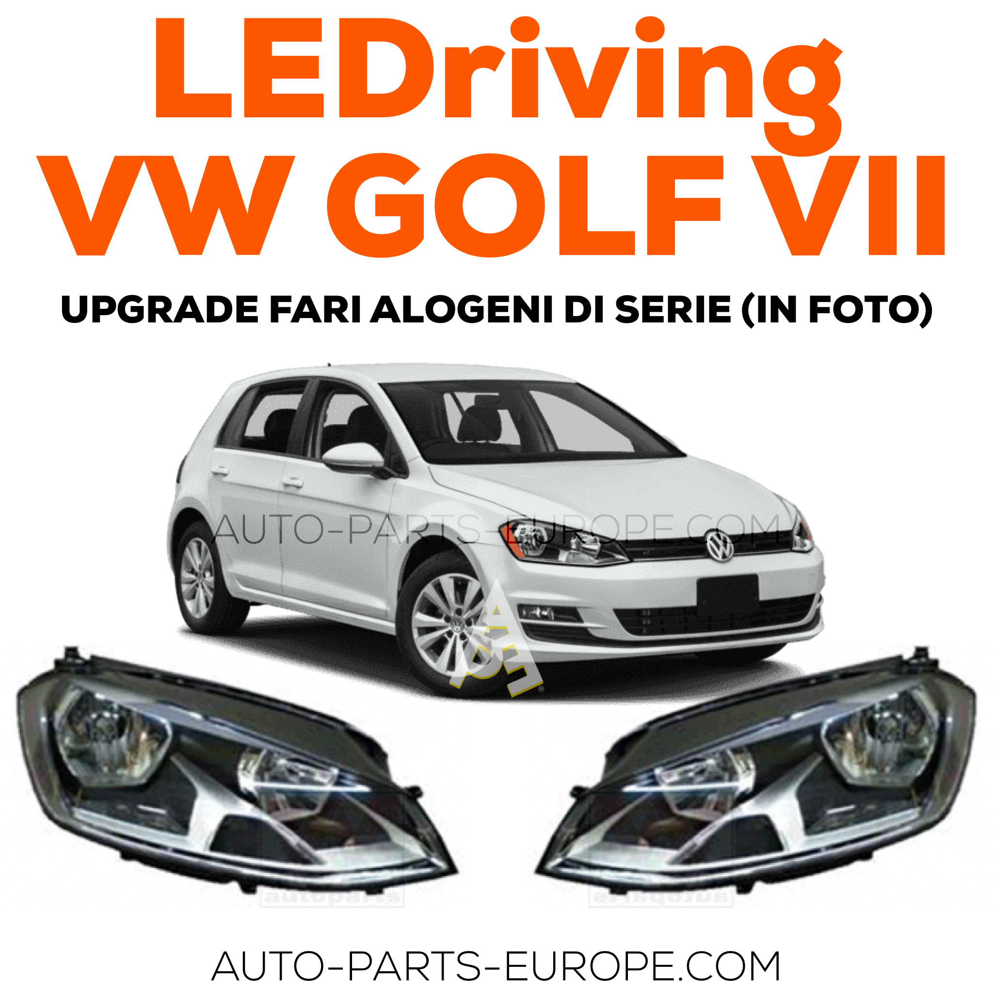 OSRAM LEDriving VW Golf VII black full LED headlight kit