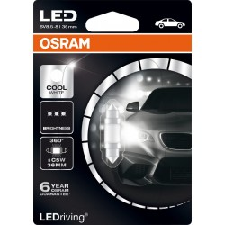 LEDriving® Premium C5W siluro 36mm COOL WHITE 6000K 12V BLI1
