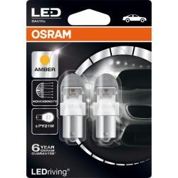 LEDriving® Premium PY21W YELLOW 12V BLISTER DOPPIO