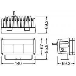 Lightbar MX140-SP LEDriving Driving Lights On-Road 12/24 30/2W